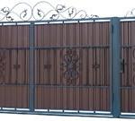Виды и особенности ворот с элементами ковки